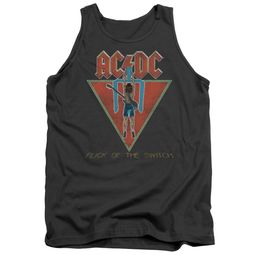ACDC Tank Top Flick Of The Switch Charcoal Tanktop