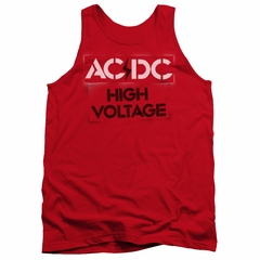 ACDC Tank Top High Voltage Red Tanktop