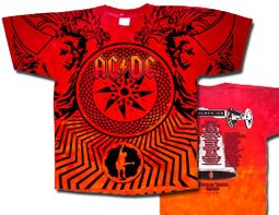 ACDC Tie Dye Shirt Stadium Tour 2009 Adult Tee T-shirt