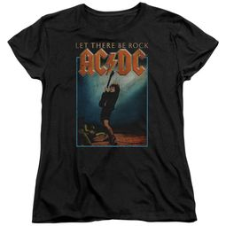 ACDC Womens Shirt Let There Be Rock Black T-Shirt