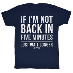 Ace Ventura Shirt 5 Minutes Adult Navy Tee T-Shirt