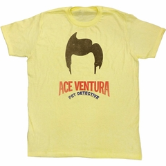 Ace Ventura Shirt Hair Adult Yellow Tee T-Shirt