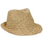 Adult Straw Fedora Hat
