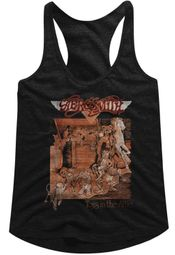 Aerosmith Juniors Tank Top Toys In The Attic Black Racerback