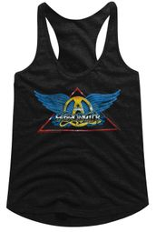 Aerosmith Juniors Tank Top Triangle Band Logo Black Racerback