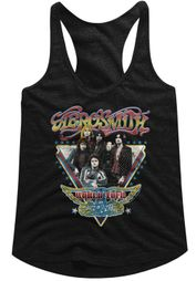 Aerosmith Juniors Tank Top World Tour Black Racerback