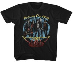 Aerosmith Kids Shirt Dream On 1973 Black T-Shirt