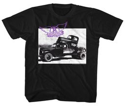 Aerosmith Kids Shirt Pump Black T-Shirt