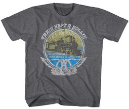 Aerosmith Kids Shirt Train Kept A Rollin Tour 1974 Grey T-Shirt