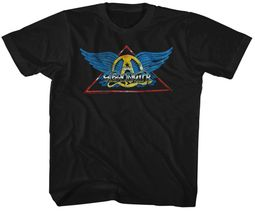 Aerosmith Kids Shirt Triangle Band Logo Black T-Shirt