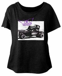 Aerosmith Ladies Shirt Pump Black Dolman T-Shirt