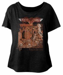 Aerosmith Ladies Shirt Toys In The Attic Black Dolman T-Shirt