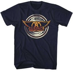 Aerosmith Shirt Boston 1975 Black T-Shirt