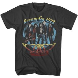 Aerosmith Shirt Dream On 1973 Black T-Shirt