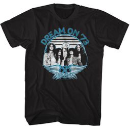 Aerosmith Shirt Dream On '73 Black T-Shirt