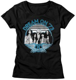 Aerosmith Shirt Juniors Dream On '73 Black T-Shirt