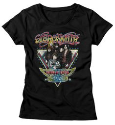 Aerosmith Shirt Juniors World Tour Black T-Shirt
