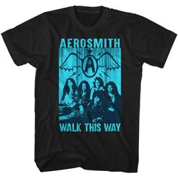 Aerosmith Shirt Walk This Way Black T-Shirt