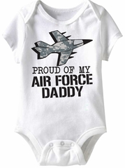 Air Force Daddy Funny Baby Romper White Infant Babies Creeper
