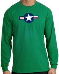 Air Force Long Sleeve Shirt Aircraft Insignia Kelly Green Tee Shirt