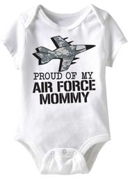 Air Force Mommy Funny Baby Romper White Infant Babies Creeper