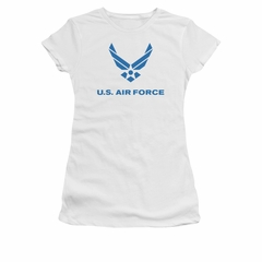 Air Force Shirt Juniors Logo White T-Shirt