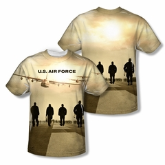 Air Force Shirt Long Walk Sublimation Shirt Front/Back Print