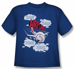 Airplane Shirt Juniors Picked The Wrong Day Royal Blue Tee T-Shirt
