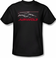 Airwolf Grid Adult Black Tee T-Shirt