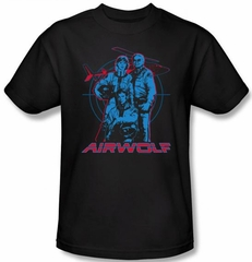 Airwolf T-shirt Graphic Adult Black Tee Shirt