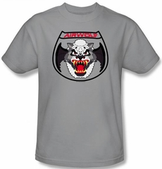 Airwolf T-shirt Patch Adult Silver Tee Shirt