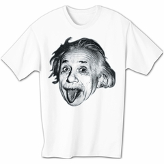 Albert Einstein Shirt Sticking Tongue Out Funny White T-shirt