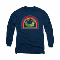 Alien Shirt Nostromo Long Sleeve Navy Tee T-Shirt