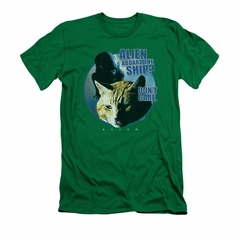 Alien Shirt Slim Fit Don't Care Kelly Green T-Shirt