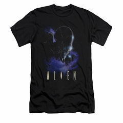 Alien Shirt Slim Fit Galaxy Black T-Shirt