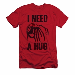Alien Shirt Slim Fit Need A Hug Red T-Shirt