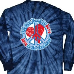 All You Need is Love Long Sleeve Tie Dye Shirt