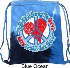 All You Need is Love Tie Dye Bag