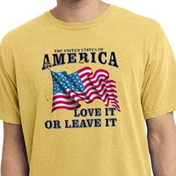 America Love It or Leave It Dijon Pigment Dyed Shirt