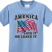 America Love It or Leave It Kids Shirts