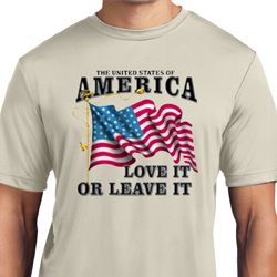 America Love It or Leave It Mens Moisture Wicking Shirt