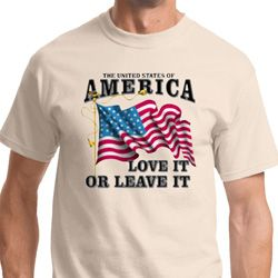 America Love It or Leave It Mens Shirts