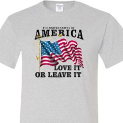 America Love It or Leave It Mens Tall Shirt