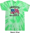 America Love It or Leave It Twist Tie Dye Shirt