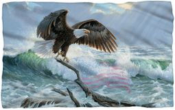 "American Bald Eagle Microfiber Fleece Blanket - 36"" X 58"""