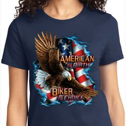 American By Birth Ladies Biker Shirts