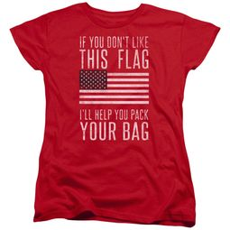 American Flag Womens Shirt Pack Your Bag Red T-Shirt