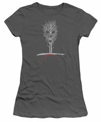 American Horror Story Juniors Shirt Scary Tree Charcoal T-Shirt