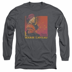 American Horror Story Long Sleeve Shirt Marie Laveau Charcoal Tee T-Shirt