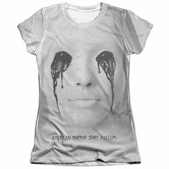 American Horror Story Shirt Asylum Poly/Cotton Sublimation Juniors T-Shirt